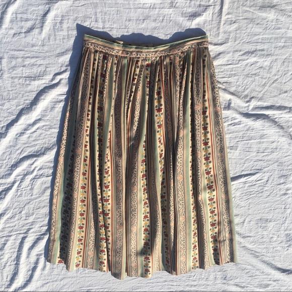 Vintage 100% Silk Skirt